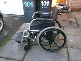 alloy wheelchair by green care, please read description
