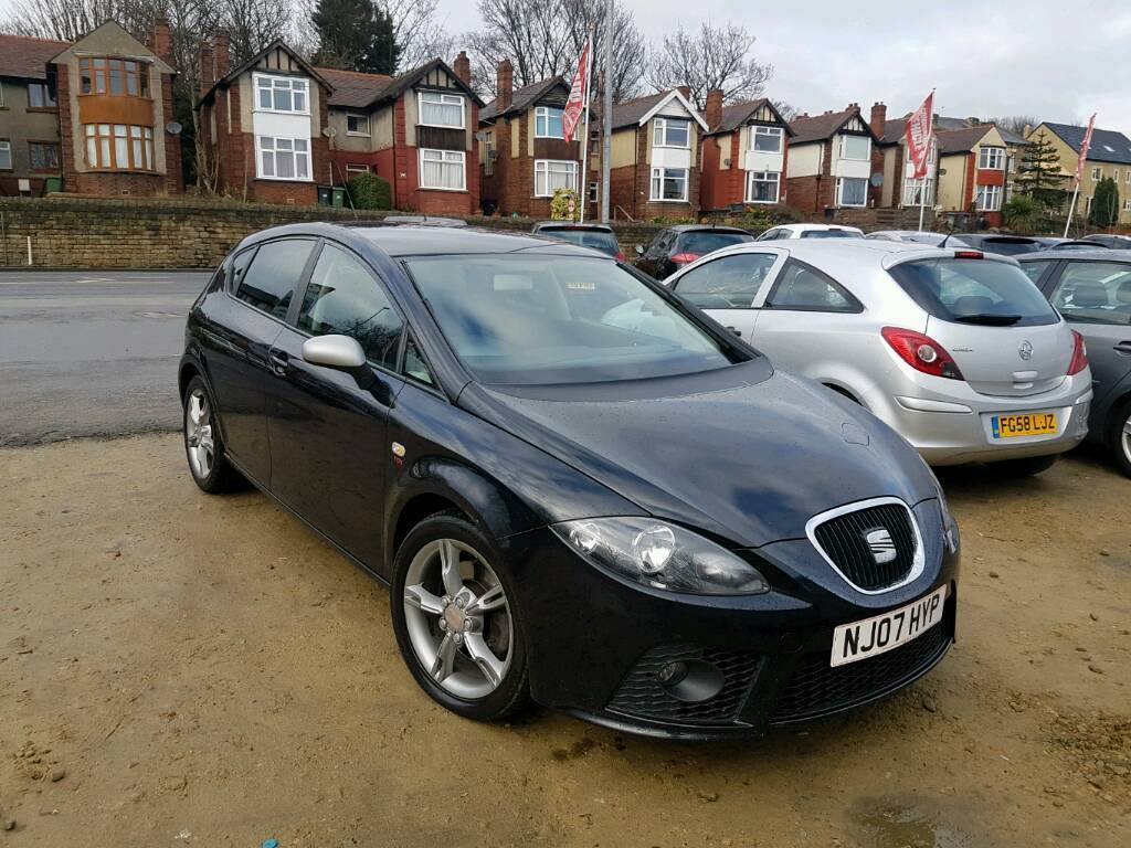 2007 seat leon 2 0 tdi fr manual black stage 2 ddg remap long mot top spec bargain in. Black Bedroom Furniture Sets. Home Design Ideas