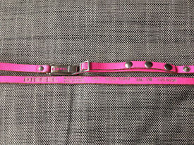 Authentic DIESEL 36ins Neon Pink Skinny Leather belt ** Was £20 - NOWJUST £5**