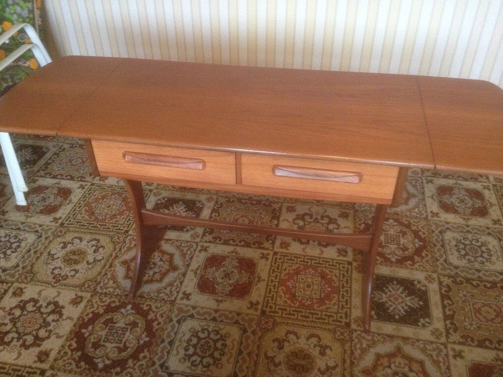 Table Dresser 1970 S G Plan With Fold Down Ends