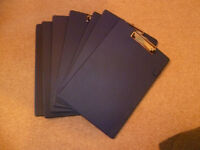 7x Blue Clipboards with pen holder