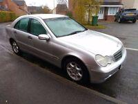Mercedes C200 Kompressor 2.0 Petrol Supercharged. No MOT. Drives. Complete Car 2002