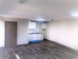 Commercial unit with built in kitchen area and separate bathroom. Ideal for multiple uses.