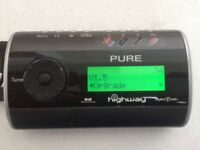 Pure Highway in-car DAB digital radio with accessories