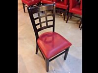 50 x Restaurant pub cafe chairs solid wood furniture