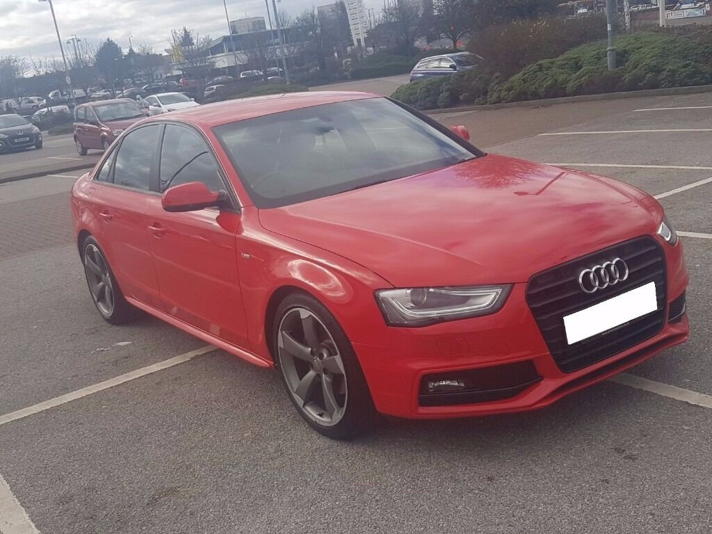 2013 audi a4 s line black edition red s4 rs4 a3 a5 facelift bargain cheap in hodge hill west. Black Bedroom Furniture Sets. Home Design Ideas