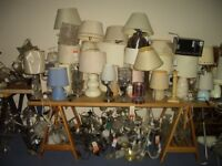 Table lamps and light fittings, Bargain Job Lot, BQ EX Display 200 items. Suit trader or boot sale.