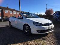 Volkswagen Golf Cabriolet 2.0 TDI Bluemotion Tec GT DSG Auto RED LEATHER, Auto Park!