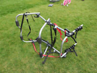Halfords Bike carrier Holds 3 cycles rack universal attached to back of car