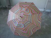 **Rare** Paul Smith Swirls/Stripes Ladies Walking Umbrella