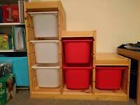 IKEA Trofast 3 tier stepped toy storage combination