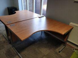 Solar Ergonomic Cantilever Office Desks Right and Left Hand