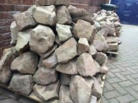 Rockery Stone. Large quantity (5 pallets) of beautiful new Yorkstone. Bought in error for a project.