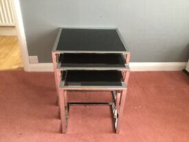 Nest of tables with tv unit