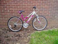 "Ladies Mountain Bike, 18.5"" Frame, 26"" Alloy Wheels, PROFESSIONALLY SERVICED."