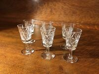 Vintage Crystal Liquor Glasses