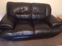 Beautiful soft black leather sofa