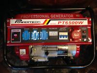 POWERTECH 6500W 3 PHASE PETROL GENERATOR - BRAND NEW--