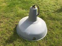 Large Grey Industrial Light (50's / 60's)