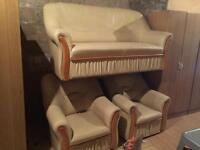 Cream leather 3.1.1 sofa