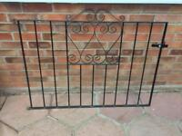 Iron drive way gates with posts