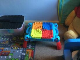 Mega Block play table