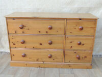Welsh Pine wide chest of drawers (Delivery)