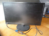 "Phillips 22"" Flat Screen Computer Monitor, Ex. Cond."