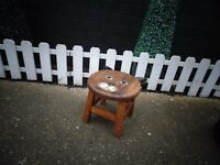 SOLID WOOD SMALL CHILDREN STOOL VERY SOLID STOOL IN EXCELLENT CONDITION 26/26/25 cm £10