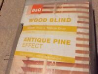 Antique Pine Effect Wood Blinds x3
