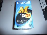 maxell 3 hr vhs tapes