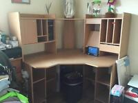 Light wood Computer desk for sale . Few tiny mark. Good condition £50. View welcome pick up only
