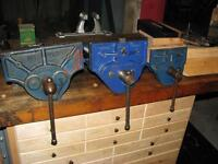 """ORIGINAL RECORD 52 7"""" WOODWORKING VISE WITH DOG"""