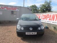 VW POLO 2003 1.2 LTR PETROL SERVICE HISTORY 1 YEAR MOT 90000 MILES VERY CLEAN!!!