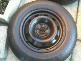 Vw golf wheel + good tyre (14 inch 5x100 ) seat skoda audi