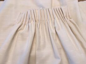 Beautiful Light Cream Curtains- 2 pairs - fully lined