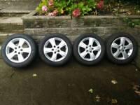 """16"""" vauxhall alloy wheels & tyres"""