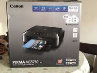 new Canon printer scanner in box - including £250 of coloured ink - wireless printing