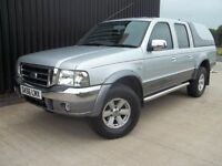2006 (56) Ford Ranger 2.5 TDdi Double Cab XLT Thunder 4dr 12 Months MOT 2 Keys May PX
