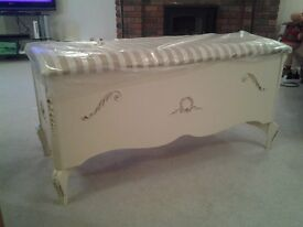 Antique French Ivory Ottoman/Blanket Box. Open to sensible offers.