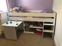 Kids bed Cabin style with desk