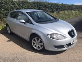 2007 SEAT LEON 1.9 TDI 105 BHP REFERENCE MOT TO JULY FINANCE AVAILABLE MAY PART EXCHANGE