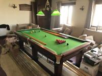 8x4ft Snooker Table with Cues and Bridge