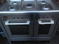 Silver Range gas cooker dual fuel .....Cheap Free Delivery
