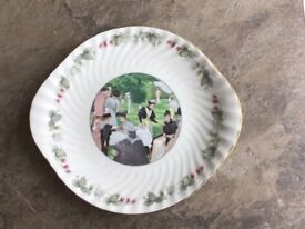 """Wimbledon plate 1988 """"The Tennis party"""" oval ."""