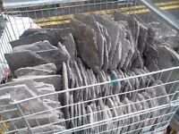 Slates - 3 pallets of various roofing slates.