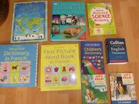Children's Encyclopedia, french and english dictionary, atlas and science book