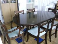 DINNING TABLE &6 CHAIRS