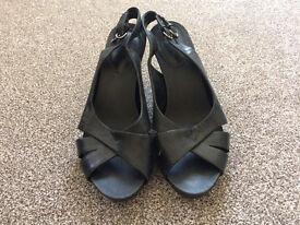 Black clark shoes, size UK 5 1/2