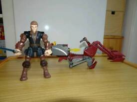 Hero masher figure Anakin Skywalker and Jedi speeder